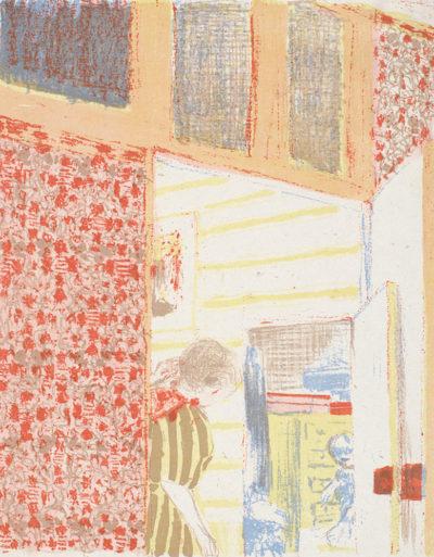 Edouard Vuillard Interior with Pink Wallpaper III (Intérieur aux tentures roses III)