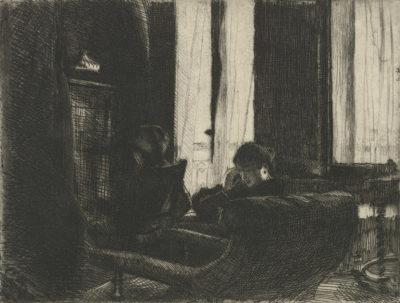 Auguste Lepère Intimacy (Intimité)