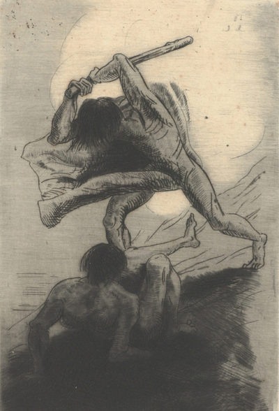 Odilon Redon Cain and Abel (Caïn et Abel)
