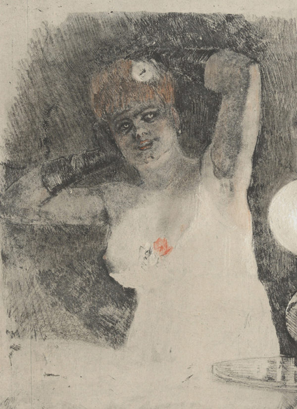Félicien Rops Lady in the Carcel Lamp (La dame au carcel)