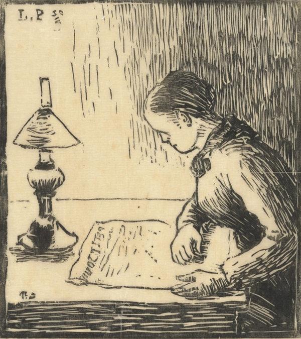 Camille Pissarro Woman Reading (Femme lisant)