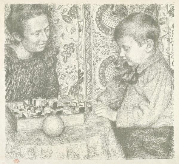 Georges Lemmen Litte Boy Playing (Garçonnet jouant)