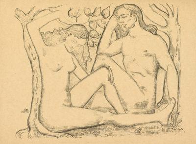Aristide Maillol Man en Woman (L'homme et la femme)