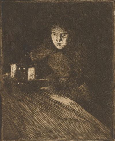 Norbert Goeneutte Marguerite Gachet in Lantern Light (Marguerite Gachet à la lanterne)