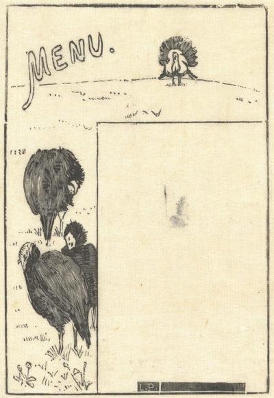 Lucien Pissarro Menu