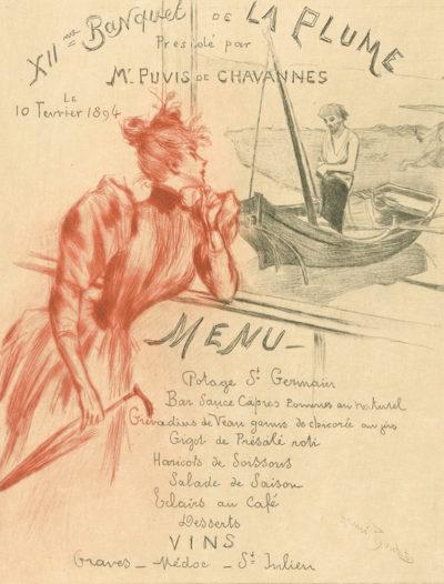 Henri Boutet Menu ( XIIth Banquet de la Plume
