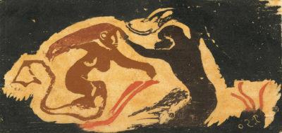 Paul Gauguin Mermaid and Sea God (Sirène et Dieu marin)