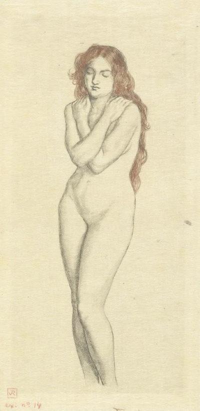 Théo Van Rysselberghe Nude Standing