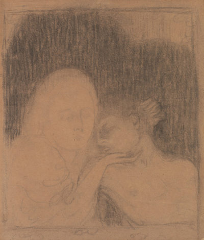 Maurice Denis Design for Mary Magdalene (Two Heads) (Madeleine (Deux têtes)) from the album L'Estampe originale (Album I )