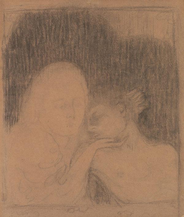 Maurice Denis Design for Mary Magdalene (Two Heads) (Madeleine (Deux têtes)) from the album L'Estampe originale (Album I )