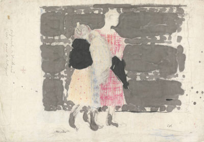 Edouard Vuillard Preparatory drawing for Sur le Pont de l'Europe from the series Paysages et intérieurs