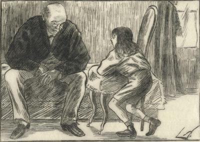Lucien Pissarro Uncle and Nephew (Oncle et neveu)
