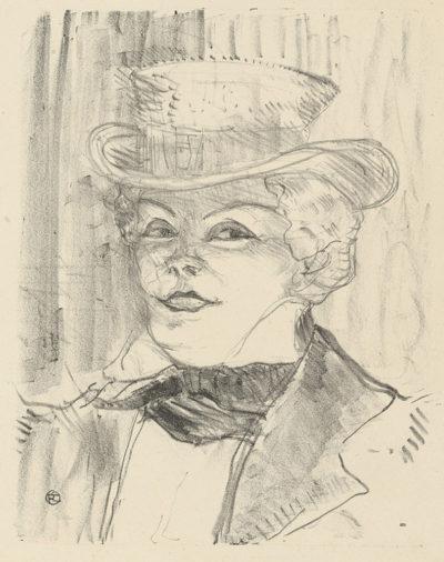 Henri de Toulouse-Lautrec Madame Réjane from the series Portraits d'acteurs et actrices
