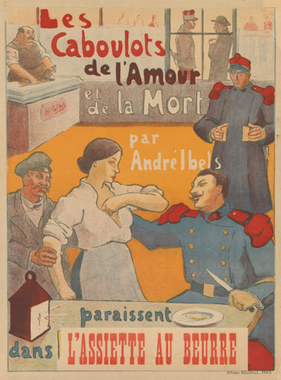 Henri Gabriel Ibels Poster for Les caboulots de l'amour et de la mort by André Ibels