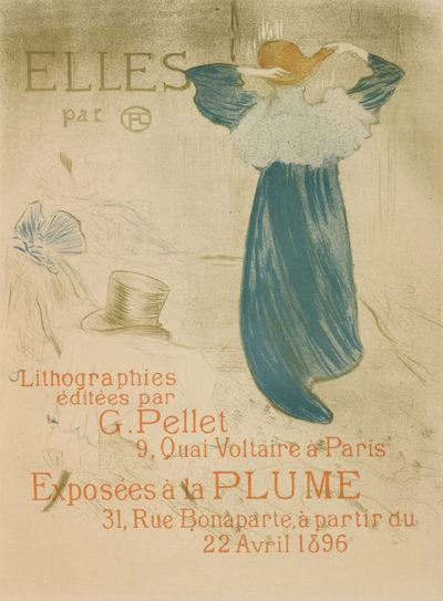 Henri de Toulouse-Lautrec Poster for the publication and the exhibition of the series Elles at the 20th exhibition of Salon des Cent at La Plume (Paris