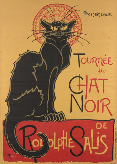 Théophile Alexandre Steinlen Poster for the tour of Le Chat Noir