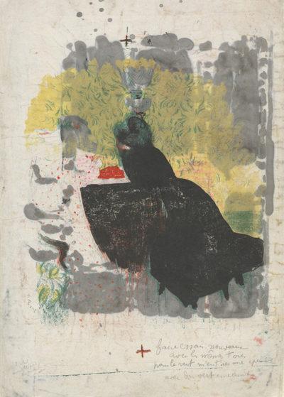 Edouard Vuillard Trial proof for Les deux belles-soeurs from the series Paysages et intérieurs