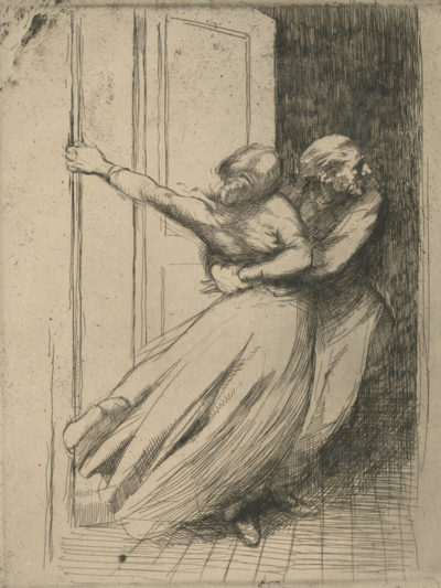 Albert Besnard Rape (Le viol) from the series La Femme