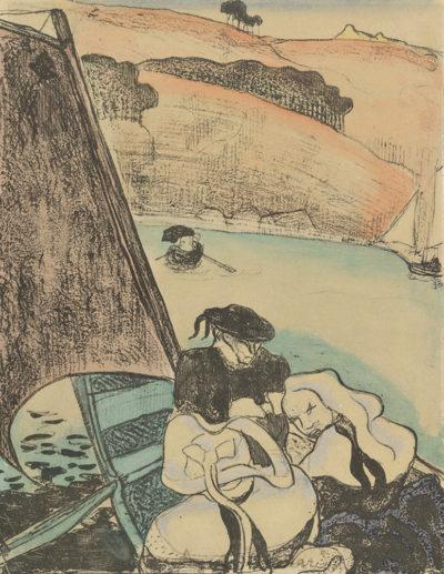 Émile Bernard Return from the Pardon (Le retour du pardon) or Bretons in a Boat (Bretons en barque)