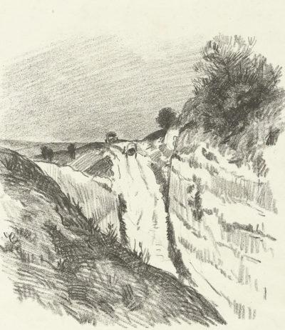 Maximilien Luce Road in La Roche-Guyon (Un chemin à La Roche-Guyon)
