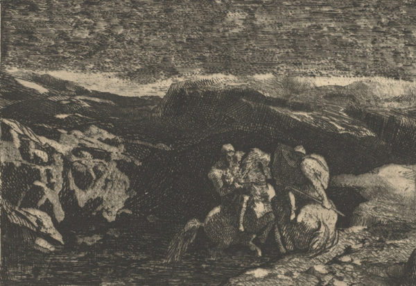 Odilon Redon Horsemen in Combat (Lutte de cavaliers)