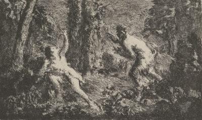 Ker-Xavier Roussel Satyr Pursuing a Nymph (Satyre courant derrière une nymphe)