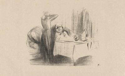 Jean Louis Forain Scene in a Restaurant's Private Dining Room (Scène de cabinet particulier)