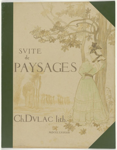 Charles Marie Dulac Endpaper of the series Suite de paysages