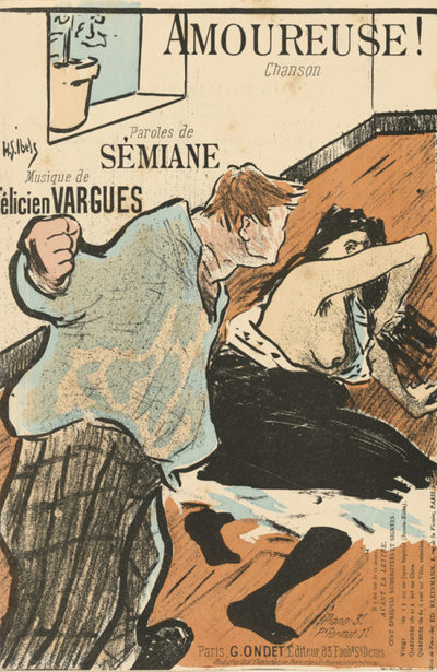 Henri Gabriel Ibels Sheet music Amoureuse! by Sémiane and Félicien Vargues