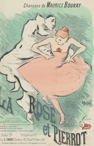 Henri Gabriel Ibels Sheet music La Rose et Pierrot by Maurice Boukay