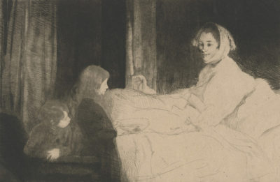 Albert Besnard Sick Mother (La mère malade)