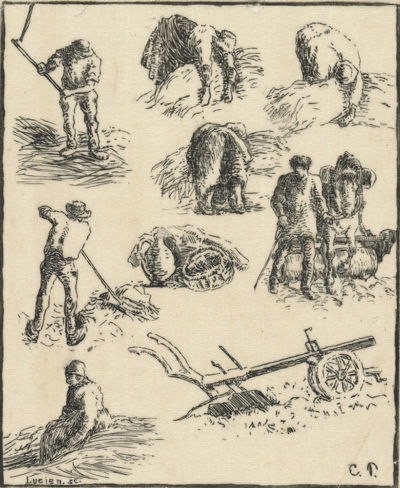 Camille Pissarro Studies (Labours of the fields) (Etudes (Travaux des champs)) from the series Les traveaux des champs