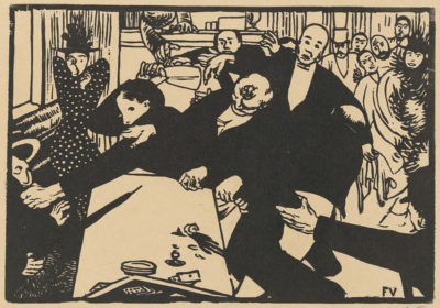 Félix Vallotton The Brawl (La rixe) or Scene in the Café (La scène au café)