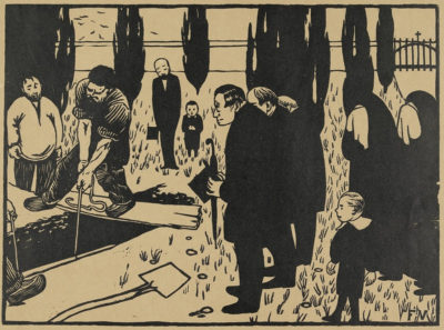 Félix Vallotton The Burial (L'enterrement)