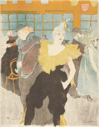 Henri de Toulouse-Lautrec The Female Clown at the Moulin rouge (La clownesse au Moulin rouge)