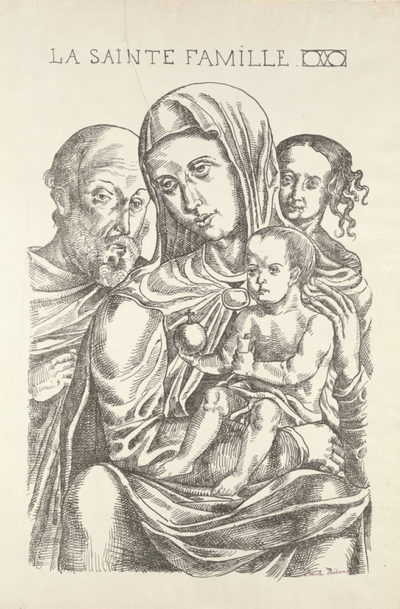Émile Bernard The Holy Family (La Sainte Famille) from the journal Perhinderion (June 1896)