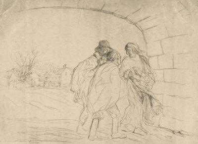Jean Louis Forain The Meeting Under the Arch (La renconte sous la voûte)