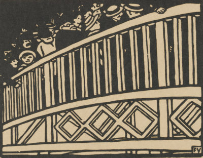 Félix Vallotton The Moving Walkway (Le trottoir roulant) from the series L'Exposition Universelle