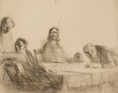 Jean Louis Forain The Supper at Emmaüs (Le repas à Emmaüs)