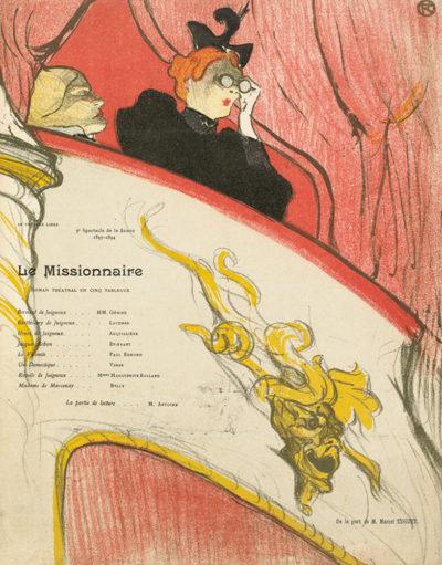 Henri de Toulouse-Lautrec Theatre programme for Le Missionnaire by Marcel Luguet (Théâtre Libre