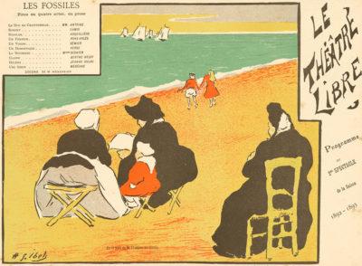 Henri Gabriel Ibels Theatre programme for Les Fossiles by François de Curel (Théâtre Libre