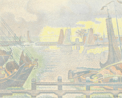 Paul Signac Trial proof of The Harbour of Volendam (Le port de Volendam)