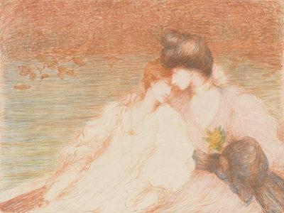 Louis-Marie-Joseph Ridel Two Young Women in a Boat (Deux jeunes femmes dans une barque)