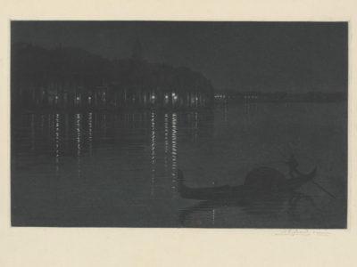 Henri Charles Guérard Venice by Night (Venise la nuit)