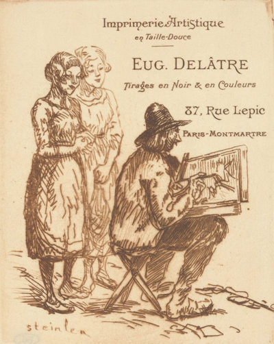 Théophile Alexandre Steinlen Visiting Card of the Printer Eugène Delâtre