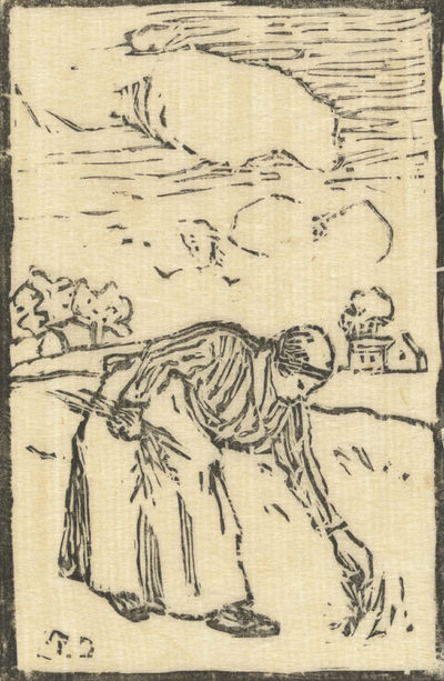 Camille Pissarro Woman Picking Grass (Femme cueillant de l'herbe)