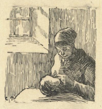 Camille Pissarro Woman Mending (Femme ravaudant)