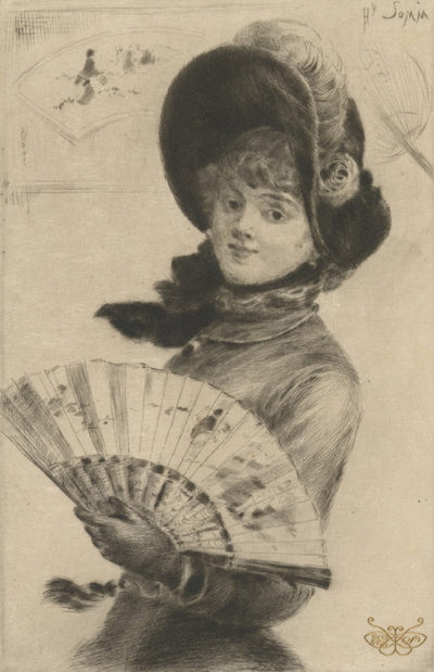 Félix Vallotton Woman with Fan
