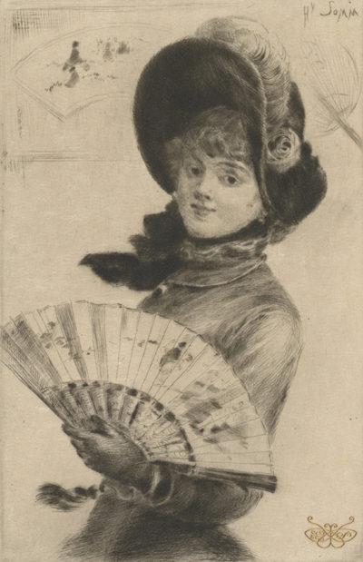 Félix Vallotton Woman with Fan