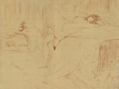 Henri de Toulouse-Lautrec Woman lying on her back (lassitude) (Femme sur le dos (lassitude)) from the series Elles